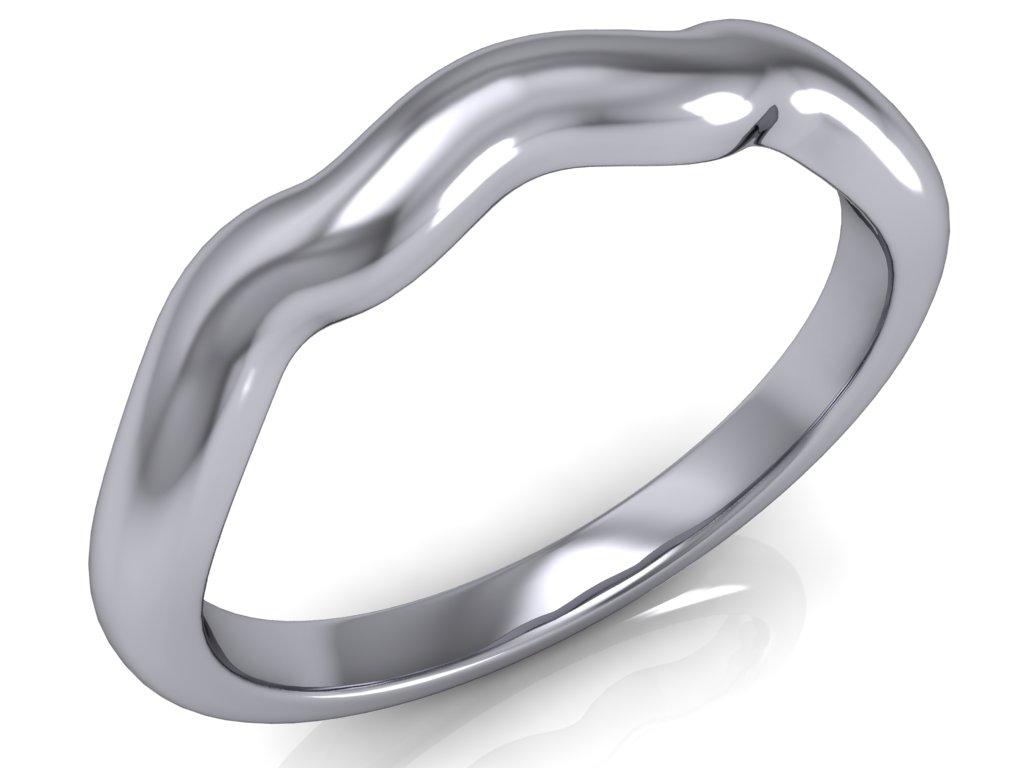 snubni prsten ASPEN bile zlato zlatnicke studio salaba zlatnictvi