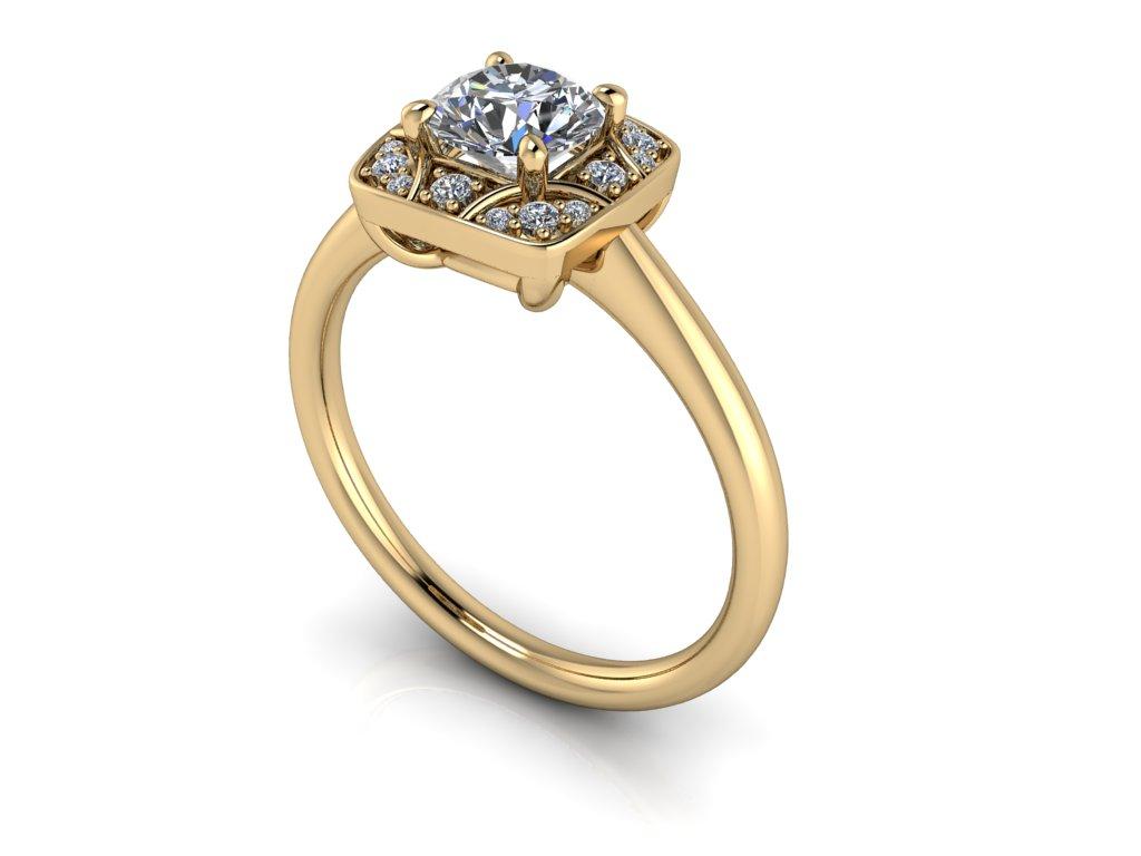 zasnubni prsten JEWEL zlute zlato 5.50mm