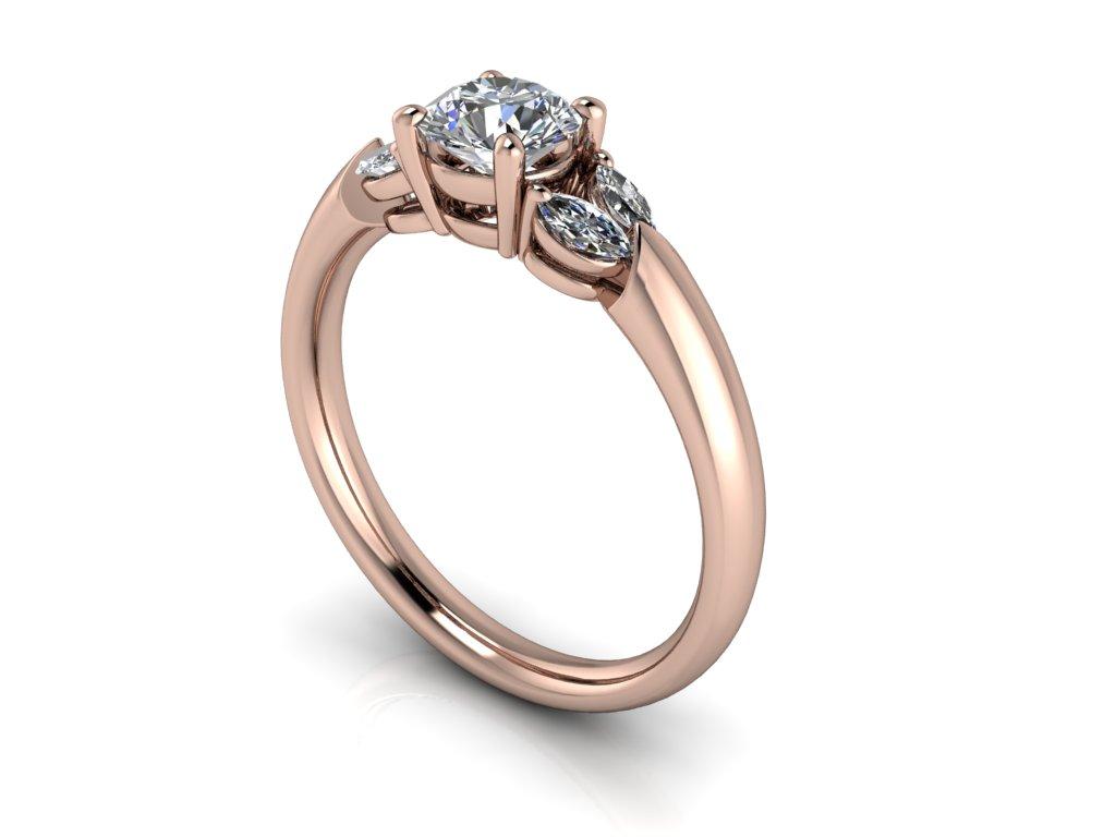 zasnubni prsten CALLA ruzove zlato 5,20mm zlatnicke studio salaba zlatnictvi