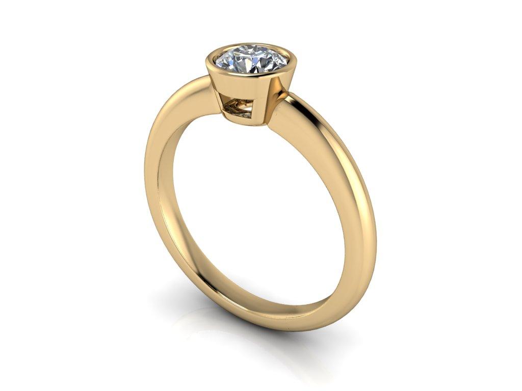 zasnubni prsten ODESSA zlute zlato 5,00mm zlatnicke studio salaba zlatnictvi