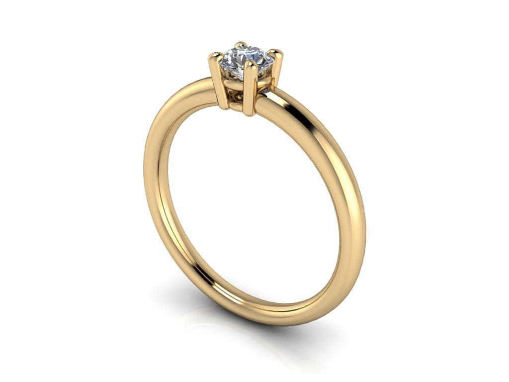 Zásnubní prsten CATHERINE s moissanitem