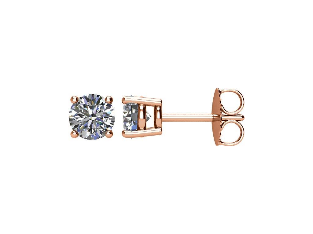 Diamantové kulaté náušnice se čtyřmi krapnami