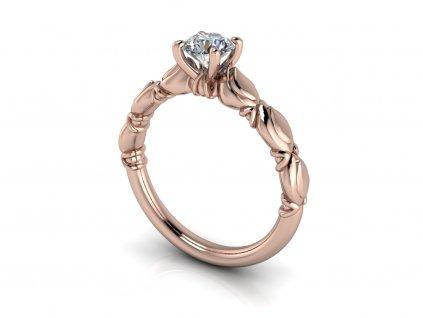 zasnubni prsten BLAIRE ruzove zlato 5,20mm zlatnicke studio salaba zlatnictvi