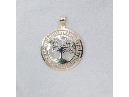 Dvoubarevný přívěšek - strom života s řeckými vzory
