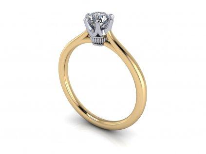 zasnubni prsten ANNA bicolor bile zlute zlato 5,00mm zlatnicke studio salaba zlatnictvi