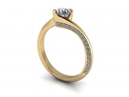 zasnubni prsten NORA zlute zlato 5,00mm zlatnicke studio salaba zlatnictvi
