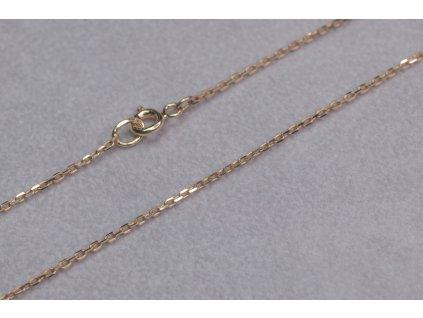 Drobný zlatý řetízek, délka 45 cm