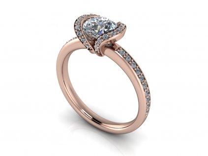 zasnubni prsten BLAKELY ruzove zlato 6,00mm zlatnicke studio salaba zlatnictvi