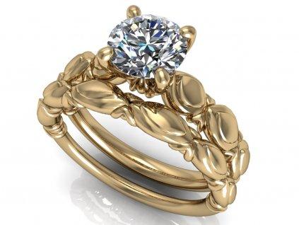 komplet zásnubní a snubní prsten Blaire