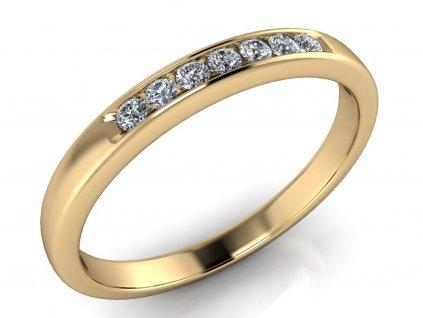 Snubní prsten Kate 7 diamantů 1,50 mm