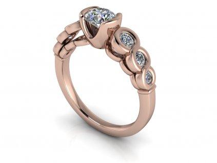 zasnubni prsten OLIVIA ruzove zlato 5.20mm zlatnicke studio salaba zlatnictvi
