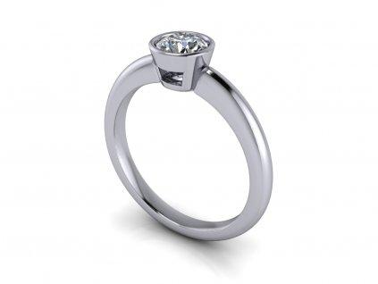 zasnubni prsten ODESSA bile zlato 5,00mm zlatnicke studio salaba zlatnictvi