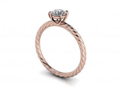 zasnubni prsten SARAH ruzove zlato 5mm zlatnicke studio salaba zlatnictvi