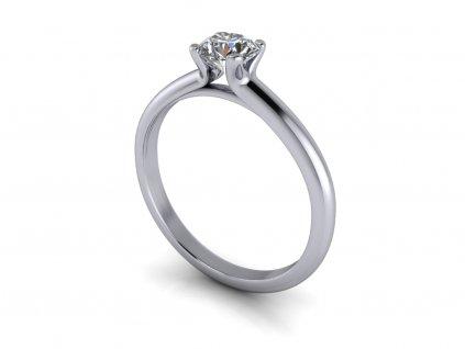zasnubni prsten KATE bile zlato 5,00mm zlatnicke studio salaba zlatnictvi