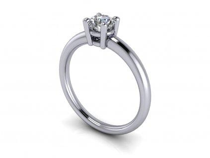 zasnubni prsten CATHERINE bile zlato 5.00mm zlatnicke studio salaba zlatnictvi