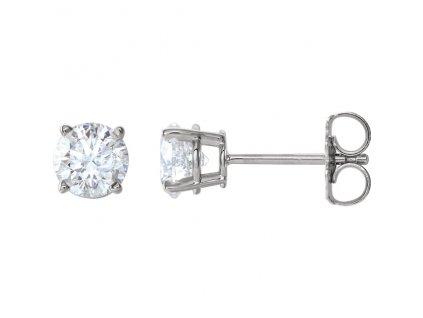 náušnice 1874 bile zlato diamant 0,50ct 5,00mm zlatnicke studio salaba zlatnictvi