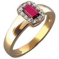 Prsteny s rubínem