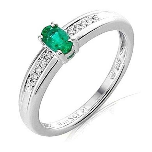 Prsteny se smaragdem