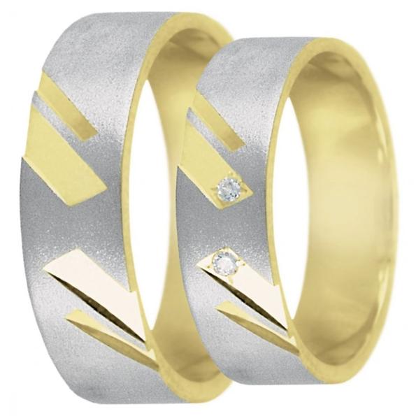 Snubní prsteny z kombinovaného zlata