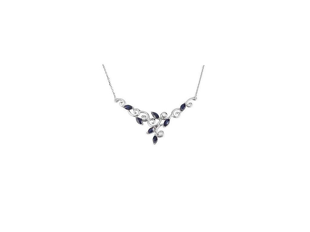 Safírový náhrdelník