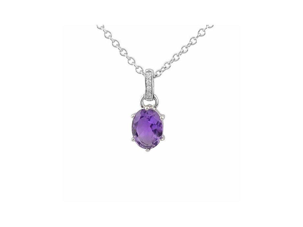 Ametystový náhrdelník