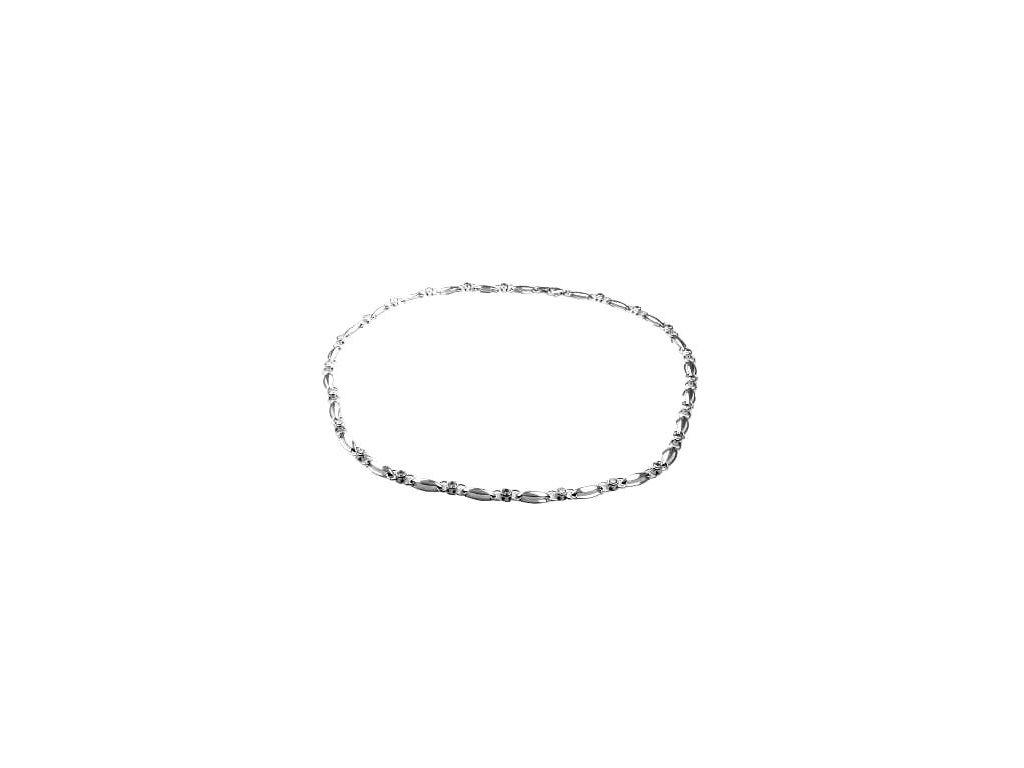 Zlatý náhrdelník 45cm z bílého zlata