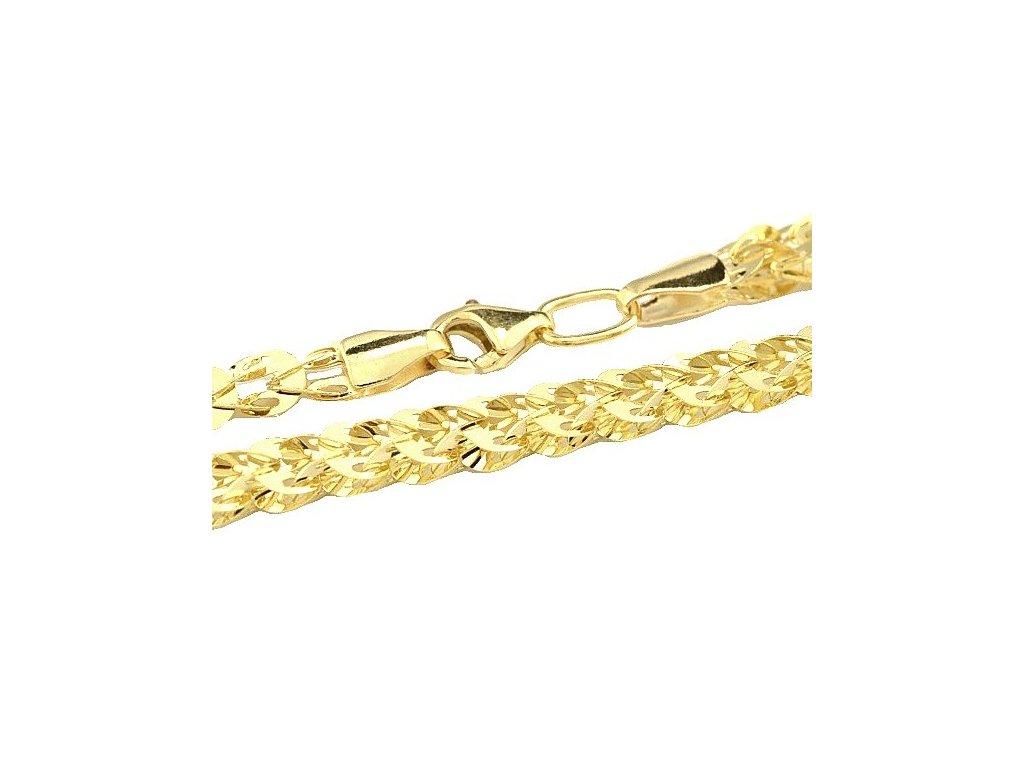 Zlatý náhrdelník 42cm