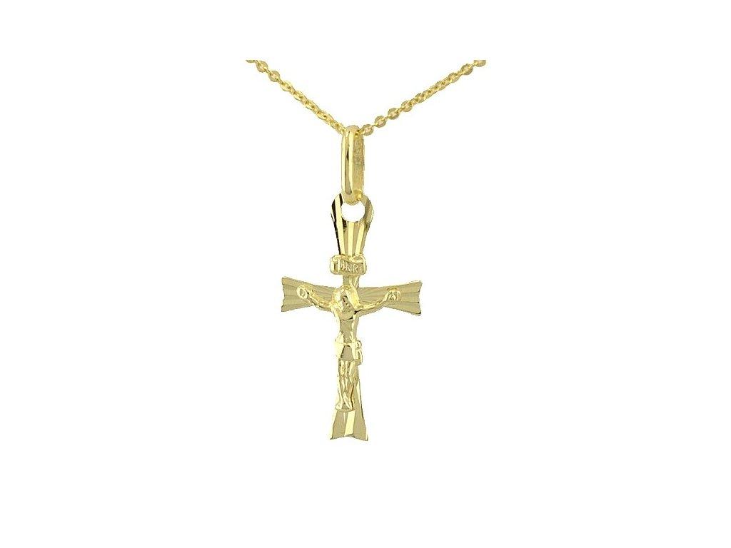 Zlatý křížek s Ježíšem