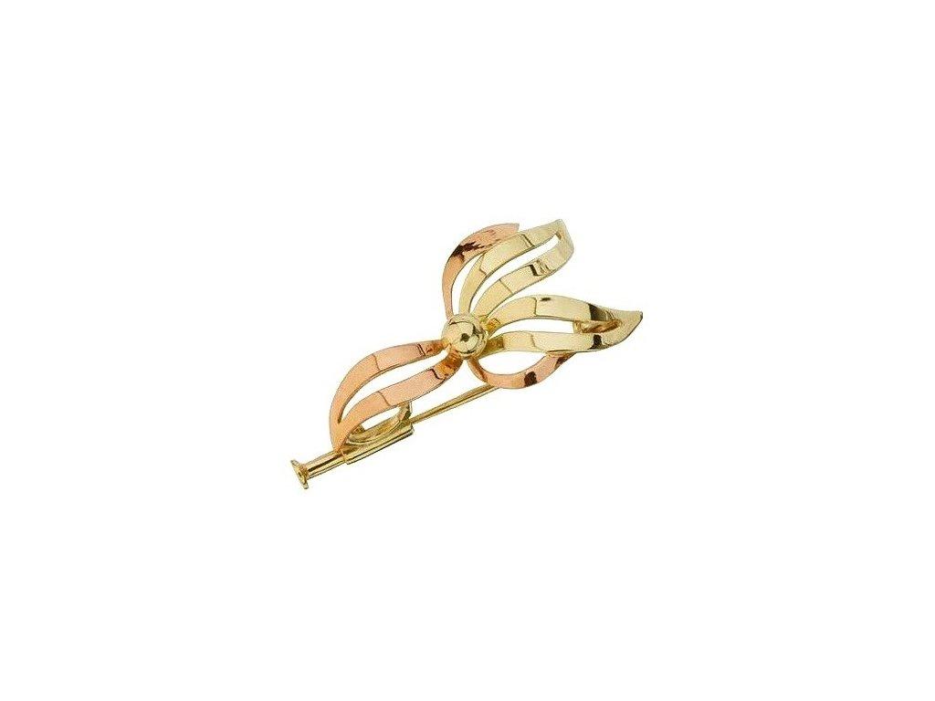 Zlatá brož - orchidej
