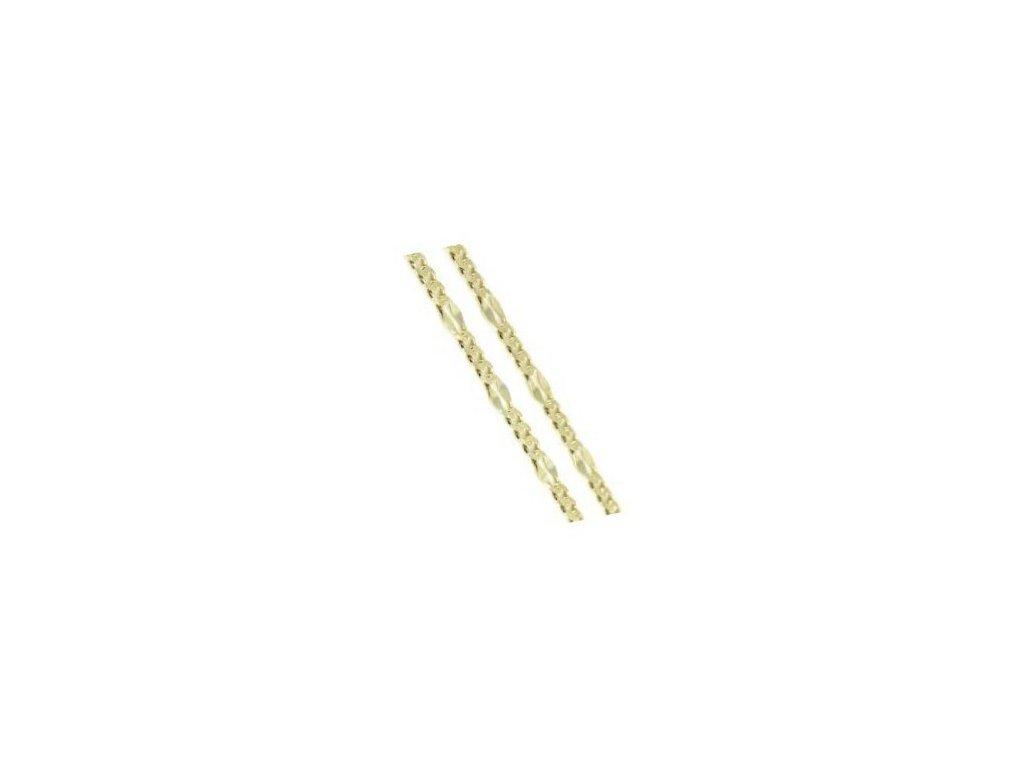 Zlatý náramek 23cm žluté zlato
