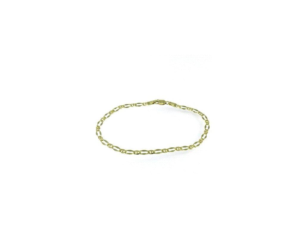 Zlatý náramek 23cm