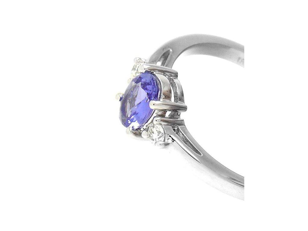 Tanzanitový prsten