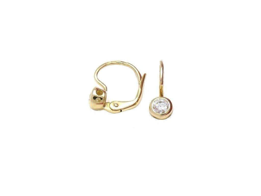 Briliantové náušnice ze zlata v kulatém provedení