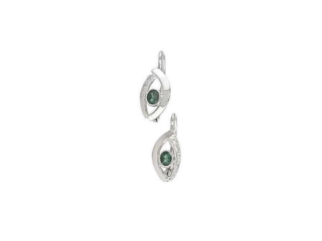 Výjimečné náušnice se vsazenými smaragdy + diamanty