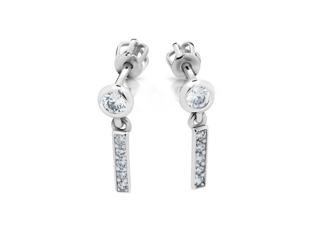 Pecky kombinované s drop earrings Z 2367