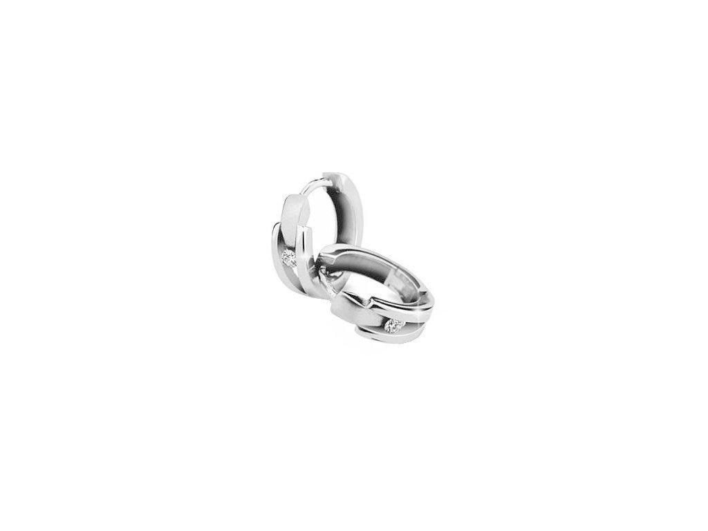 Kruhové náušnice v prstencovém tvaru s brilianty Z 2023