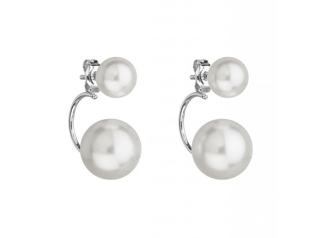 Neodolatelné náušnice z bílého zlata zdobené dvěma přírodními perlami