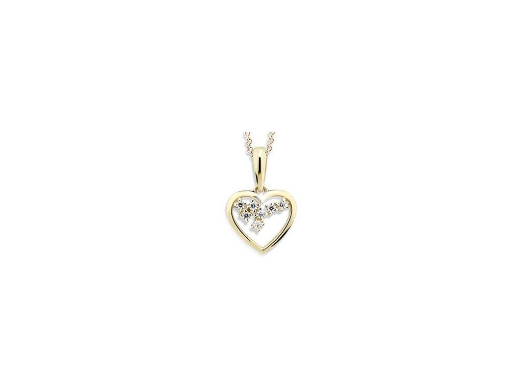 Briliantový přívěsek ve tvaru srdce Z 1606