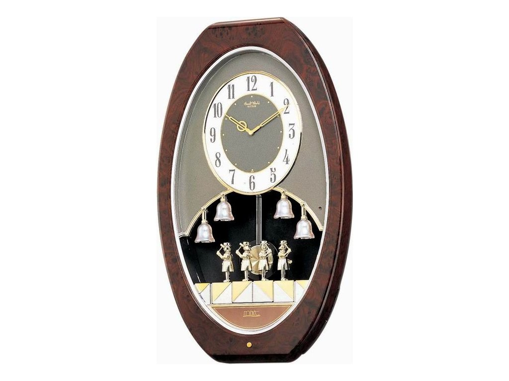Nástěnné hodiny RHYTHM 4MH687RH23 hrající