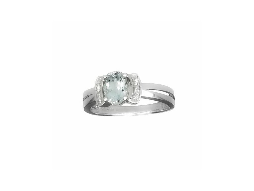 Akvamarínový prsten