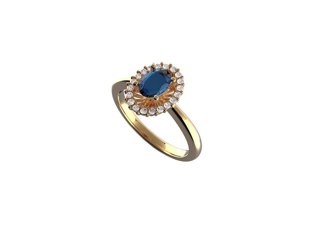Safírový prsten