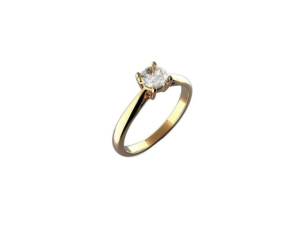 Briliantový prsten z 14 karátového zlata