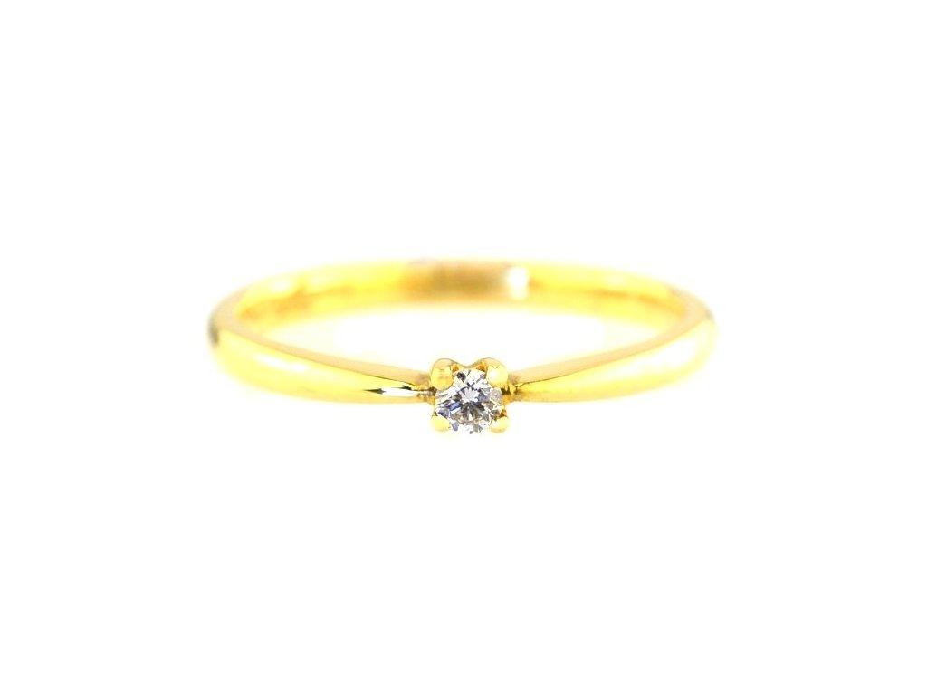 Briliantový prsten se zlatou obroučkou