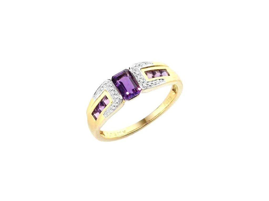 Ametystový prsten