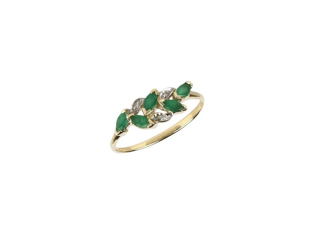 Smaragdový prsten s brilianty