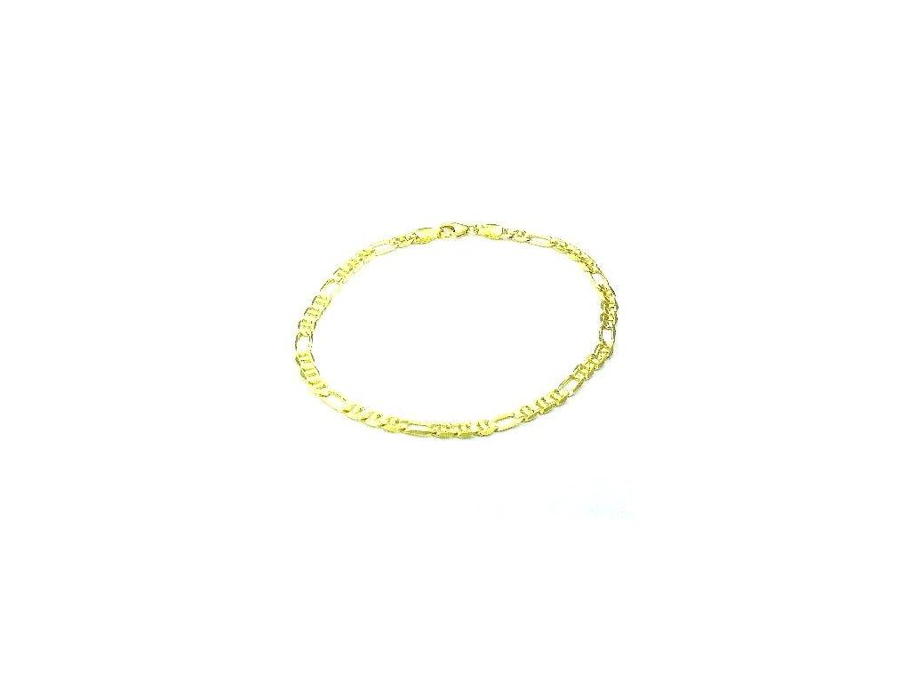 Zlatý náramek 22cm