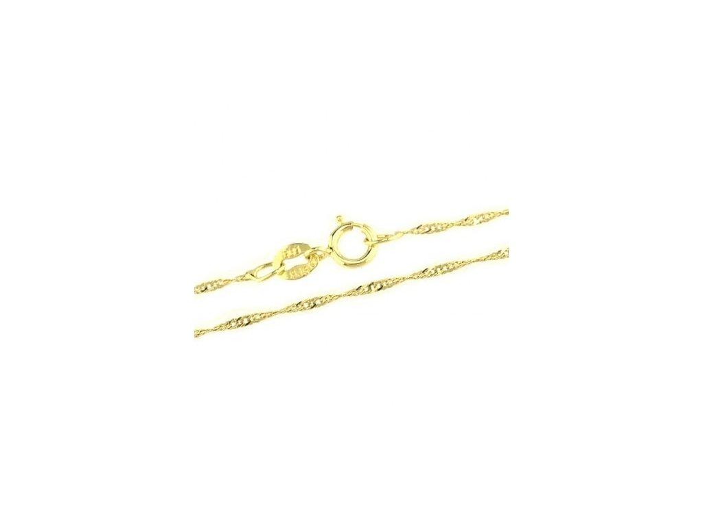 1126-5 Zlatý řetízek 45cm žluté zlato
