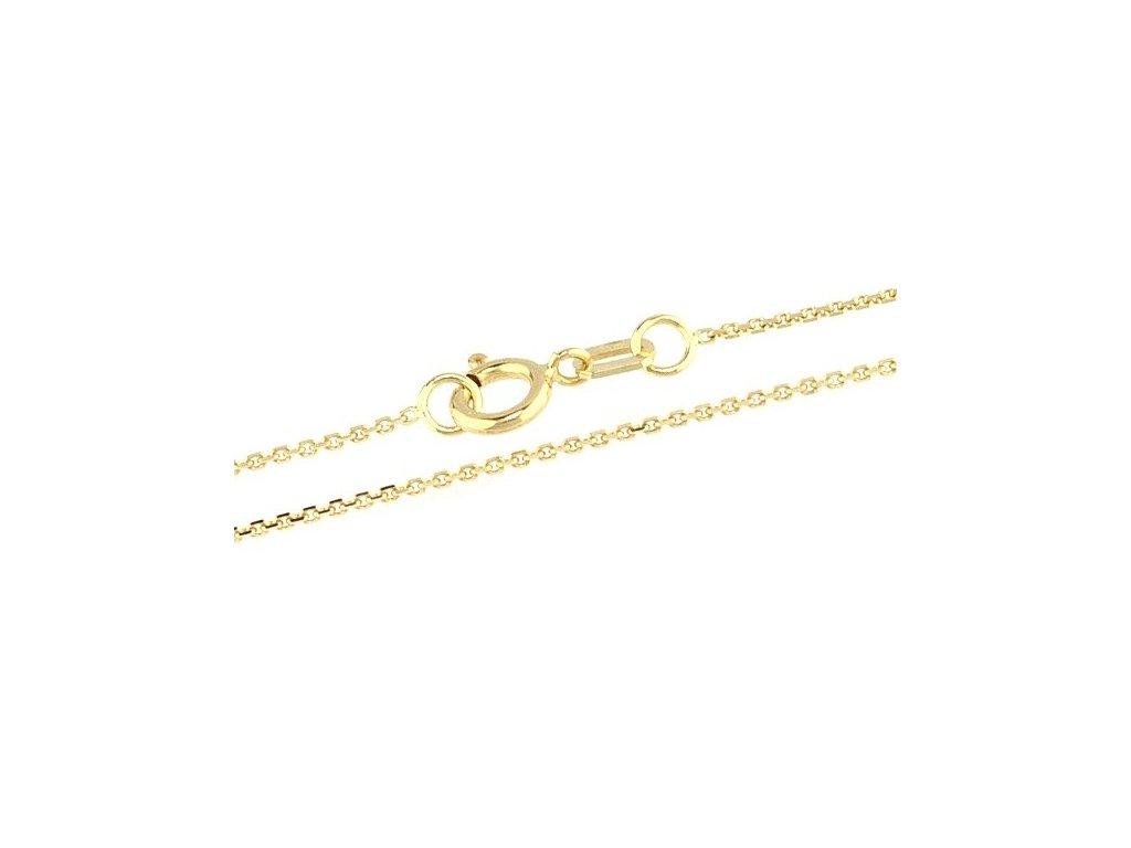 1026-5 Zlatý řetízek 45cm žluté zlato