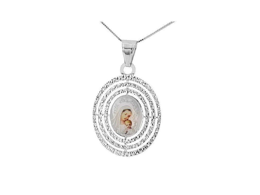 Zlatá madonka – přívěšek z bílého zlata