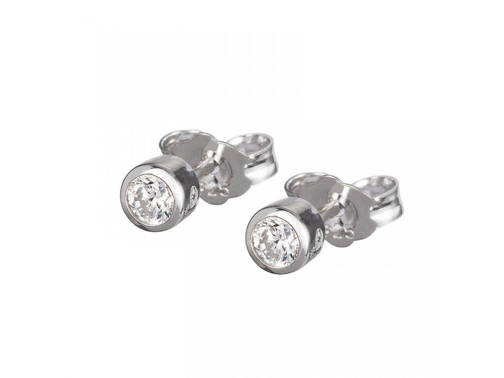 6859 00 Náušnice stříbrné PRECIOSA 4mm
